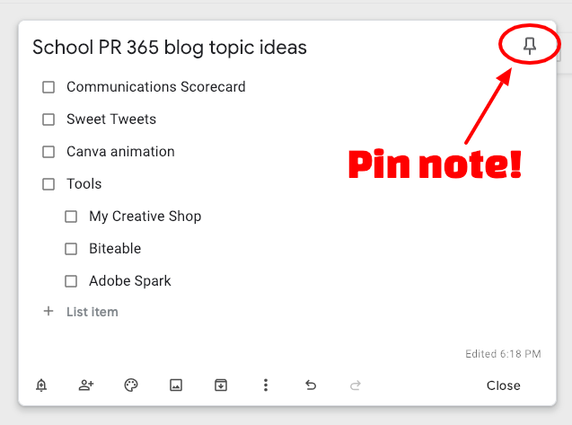 Getting started with Google Keep + a nifty Google Chrome trick for